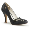 SMITTEN-20 Black Faux Leather
